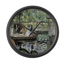 Pierre-Auguste Renoir La Grenouil Large Wall Clock