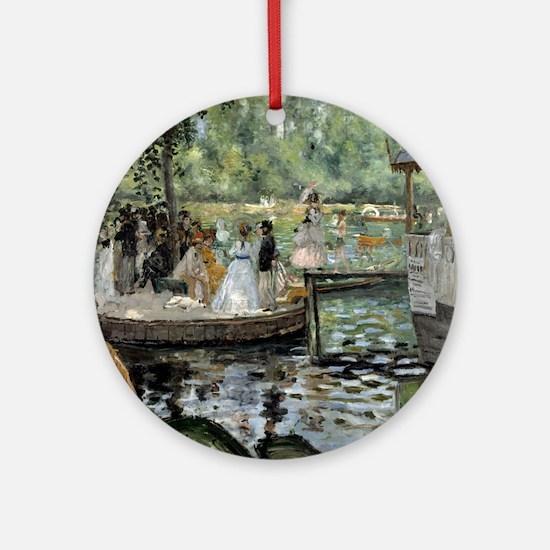 Pierre-Auguste Renoir La Grenouille Round Ornament