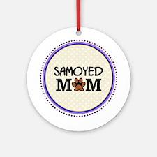 Samoyed Dog Mom Ornament (Round)