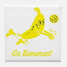 Go Bananas Tile Coaster