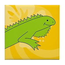Iguana Round Car Magnet Tile Coaster