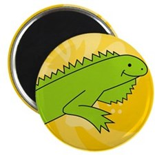 iguana round car  Magnet