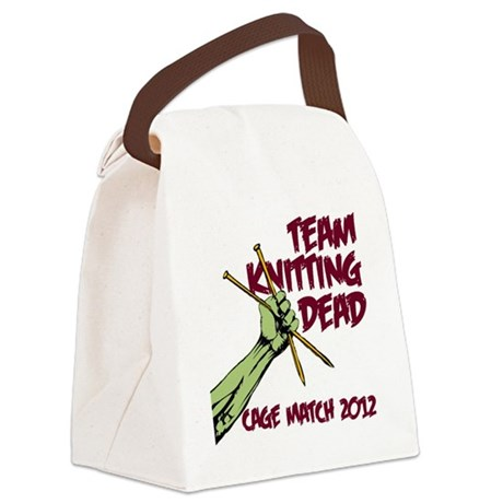 Team Knitting Dead Cage Match Canvas Lunch Bag