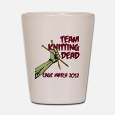 Team Knitting Dead Cage Match Shot Glass