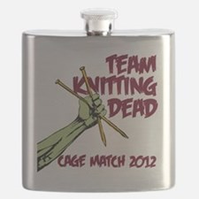 Team Knitting Dead Cage Match Flask