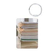 Stack of paperwork Keychains