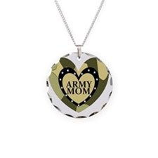 ARMY MOM CAMOUFLAGE HEART Necklace