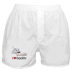 I Love Hockey Boxer Shorts