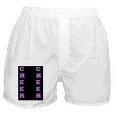 Cheer Black and Purple Boxer Shorts