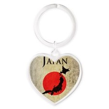 Map Of Japan Heart Keychain