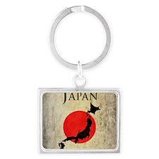 Map Of Japan Landscape Keychain