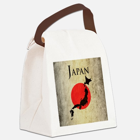 Map Of Japan Canvas Lunch Bag