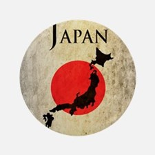 "Map Of Japan 3.5"" Button"