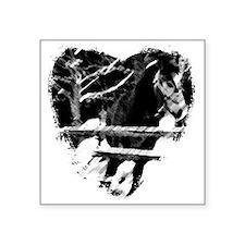 """Horse Lover Square Sticker 3"""" x 3"""""""