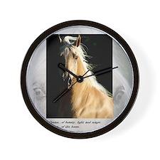 Golden Dream Horse Wall Clock