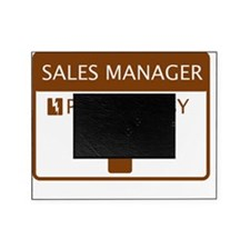 Sales Manager Powered by Coffee Picture Frame