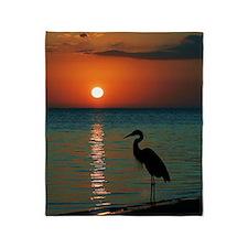 Meditation At Sunset Throw Blanket