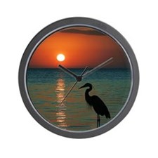 Meditation At Sunset Wall Clock
