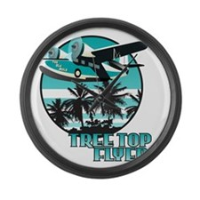 Tree Top Flyer Blue Large Wall Clock