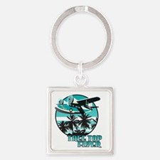 Tree Top Flyer Blue Square Keychain