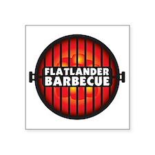 """Flatlander Barbecue Competi Square Sticker 3"""" x 3"""""""