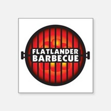 "Flatlander Barbecue Competi Square Sticker 3"" x 3"""