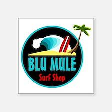 """Blu Mule Surf Shop Square Sticker 3"""" x 3"""""""