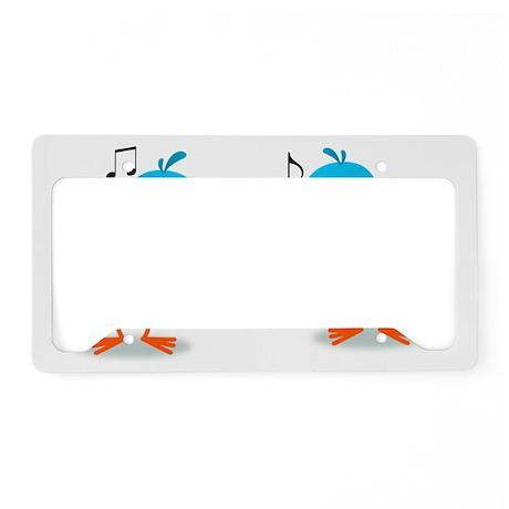Bluebirds Serenade License Plate Holder