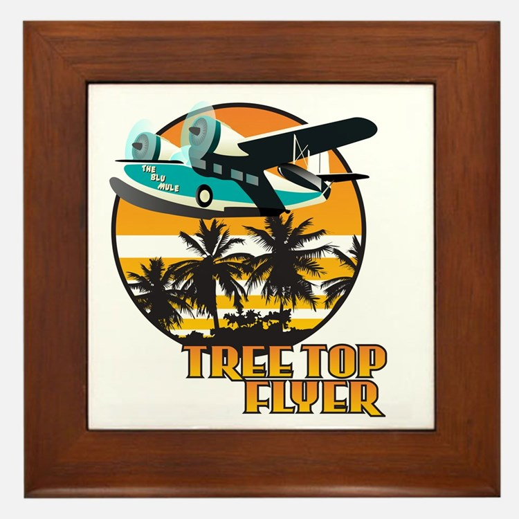 Tree Top Flyer Orange Framed Tile