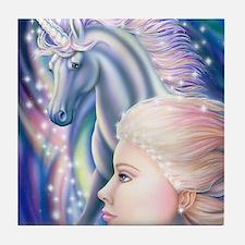Unicorn Princess 16x20 Tile Coaster
