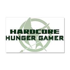 Hardcore Hunger Gamer Car Magnet 20 x 12