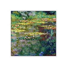 """Shower Monet Le Bassin Square Sticker 3"""" x 3"""""""