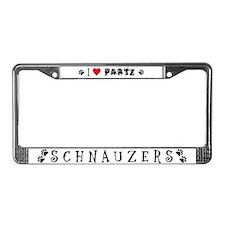 Parti Schnauzers 2.0 License Plate Frame