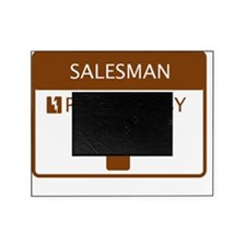 Salesman Powered by Coffee Picture Frame
