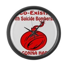 Co-Exist? With Suicide Bombers? N Large Wall Clock
