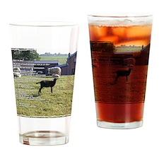 Lia 4 zwart schaap kaderlijn Drinking Glass