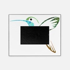 Blue and Green Patchwork Hummingbird Picture Frame