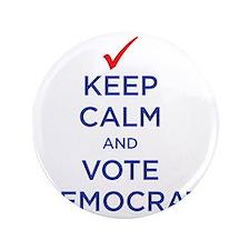 """vote democrat 3.5"""" Button"""