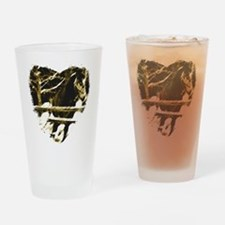 Horse Love Drinking Glass