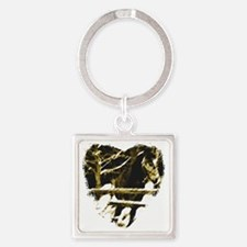 Horse Love Square Keychain