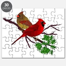 Cardinal Couple on a Branch Puzzle
