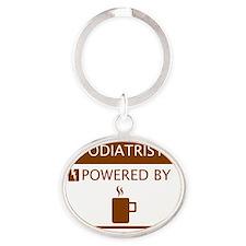Podiatrist Powered by Coffee Oval Keychain
