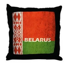 Belarus Grunge Flag Throw Pillow