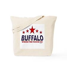 Buffalo Where The Tough Go Tote Bag