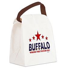 Buffalo Where The Tough Go Canvas Lunch Bag