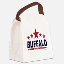 Buffalo Where The Tough Go Canvas Lunch Bag