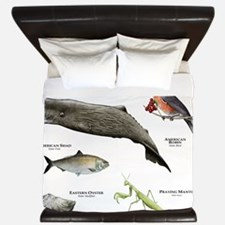State Animals of Connecticut King Duvet