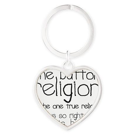 button religion Heart Keychain