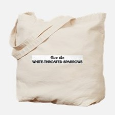 Save the WHITE-THROATED SPARR Tote Bag