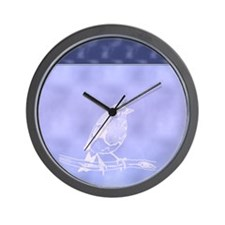 White bird Wall Clock